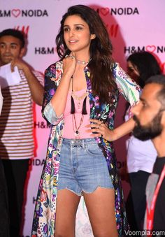 Check out her post weight-loss look! Parineeti Chopra rocks denim shorts at an event in Delhi! via Voompla.com