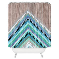 Add some vibrant style to your bathroom with the Iveta Abolina High Tide Shower Curtain. Constructed from 100% polyester, this attractive shower curtain features a mixture of bright, energetic colors designed to create a spirited ambience.