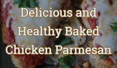 Delicious and Healthy Baked Chicken Parmesan Baked Chicken Tenders, Healthy Baked Chicken, Chicken Parmesan Recipes, Chicken Cutlets, Melted Cheese, Italian Seasoning, Freshly Baked, Bread Crumbs, Baking Pans