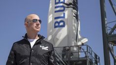 eff Bezos' space company Blue Origin expects to begin crewed test flights of its reusable suborbital New Shepard vehicle next year and begin flying paying passengers in Bezos told reporters on Tuesday. Bezos' remarks, made during the first. Richard Branson, John Glenn, Neil Armstrong, Bill Gates, New Shepard, Nasa Spacex, Rocket Engine, Founding Fathers, The Journey