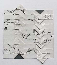 Anna Duthie. Cool, rad take on collage, also seems very inspired by basket weaving. Love #blackandwhite