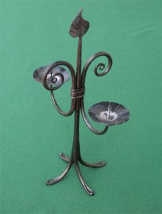 Wrought Iron Candle Holders, Candlesticks, Candleholders, Metal Forming, Blacksmith Projects, Prim Decor, Metal Shop, Iron Work, Candle Stand