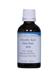 (4 oz / 120 ml) GLYCOLIC Acid 60% Skin Chemical Peel Unbuffered - Alpha Hydroxy (AHA) For Acne, Oily Skin, Wrinkles, Blackheads, Large Pores & More (from Skin Beauty Solutions) by Skin Beauty Solutions. $34.99. Full Instructions and Gauze Pads.. Alpha Hydroxy Acid. Glycolic Peels work by loosening and gently sloughing off the damaged, unattractive skin cells. Glycolic acid works as an exfoliating agent because of its high acidity but easy solubility.. Glycolic Peels...