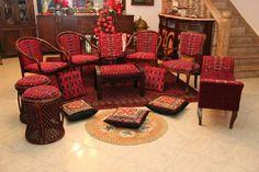 جلسه فلسطينية Palestinian embroidered chairs