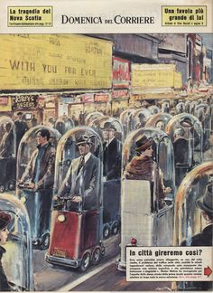 Walter Molino 1962: Mid-century Futurism didn't expect occupants to be 2-3 times larger.