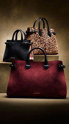 e7ab3fab8b9 The Large Banner in Suede and Leather Burberry Handbags, Tote Handbags,  Fashion Handbags,