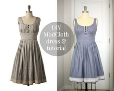 Made my own ModCloth dress / Create / Enjoy