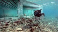 Pavlopetri, a 3000-year old city under water near Laconia, Greece