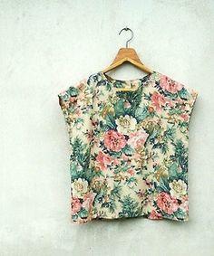 3529308a0d2c dustjacketattic  vintage floral top Floral Blouse