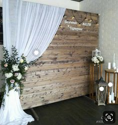27 Ideen für Dekorationen - Carly and Derek's Wedding Ideas - Hochzeit Engagement Decorations, Wedding Decorations, Coin Photo, Decoration Evenementielle, Deco Champetre, Rustic Wedding Backdrops, Photo Booth Backdrop, Ideas Para, Dream Wedding