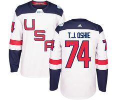 a139c79c4e50 USA 16 James van Riemsdyk White 2016 World Cup Of Hockey Premier Player  Jersey