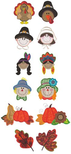 Embroidery | Free Machine Embroidery Designs | Harvest Happenings Applique