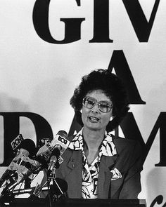 1986 - Senator Janine Haines becomes the first woman leader of a political party, the Australian Democrats. Picture - Bryan Charlton