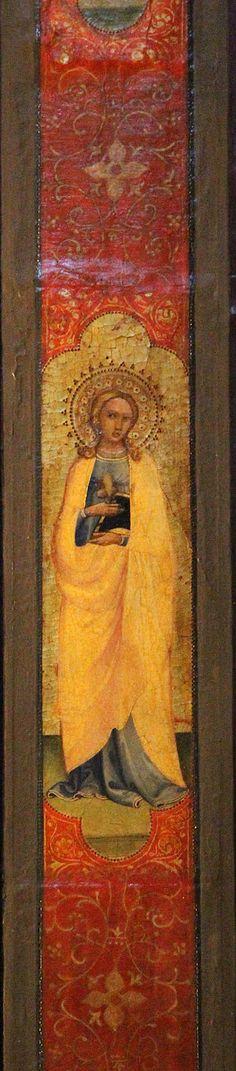 """Lorenzo Monaco (attr. a) - Pilastrini con Santi della """"Pala di Fiesole"""" di Beato Angelico - 1424-1425 - tempera su tavola - Fiesole, Chiesa di San Domenico"""