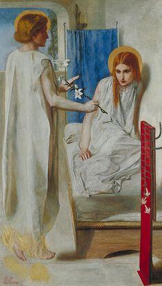 File:Dante Gabriel Rossetti - Ecce Ancilla Domini!
