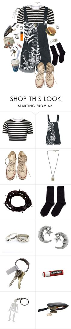 """Weird kids live on fast food"" by sketchmekayla ❤ liked on Polyvore featuring Topshop, Converse, Tarina Tarantino, Barbed, Hansel from Basel, Journee Collection, CB2 and Chapstick"