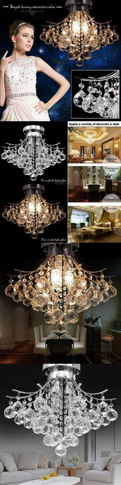 Chandeliers and Ceiling Fixtures 117503: Dining Room Crystal Drop Chandelier 3-Light Pendant Lamp Ceiling Lighting -> BUY IT NOW ONLY: $58 on eBay!