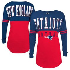 5th  amp  Ocean by New Era New England Patriots Women s Red Baby Jersey  Spirit Top e5c342ecf