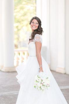 This Bride chose Reem Acra for her Wedding Day | Cassi Claire Photography | KleinfeldBridal.com
