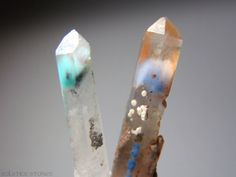 Set of 2 Extremely Rare Ajoite and Papagoite by SolsticeStones, $250.00