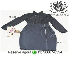 🎯 Camisa de Chiffon com Detalhes em Metal R$ 80,00 com Saia de Cirre com Ziper R$ 80,00 🔥 Reserve agora whatsapp (11) 96667-6394  http://www.modaemroupafeminina.com.br/2017/07/camisa-de-chiffon-com-detalhes-em-metal.html