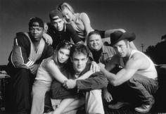 Still of James Van Der Beek, Scott Caan, Ali Larter, Amy Smart, Ron Lester, Eliel Swinton and Paul Walker in Varsity Blues