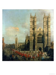 Procession of the Knights of the Bath (Westminster Abbey) - by Canaletto