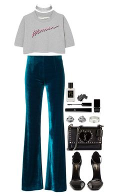 """""""a statement"""" by robbieisabel ❤ liked on Polyvore featuring Off-White, Yves Saint Laurent, Cartier, Ellis Brooklyn, Bobbi Brown Cosmetics and Context"""