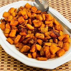 Roasted Butternut Squash with Moroccan Spices (spice mix recipe included) from Kalyn's Kitchen