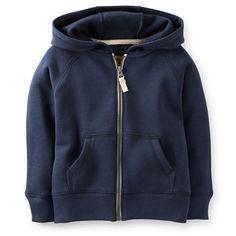 Carter's Zip-Front Fleece Hoodie   size 3T Fall 2014