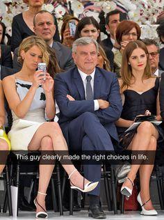Es obvio que este hombre tomó las decisiones correctas durante su vida.