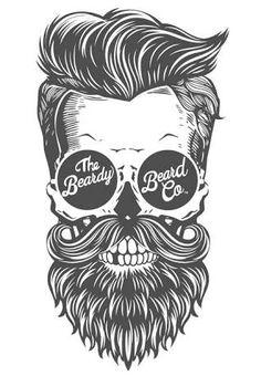 Resultado de imagen para beard skull tattoo