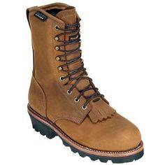 Golden Retriever Boots: Men's Waterproof Insulated Logger Boots 9470