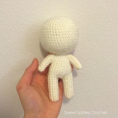 6 Chibi Doll Base Amigurumi Crochet Pattern for Custom