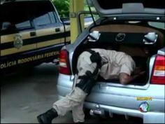 PRF Polícia Rodoviária Federal combate tráfico de drogas e armas nas fro...