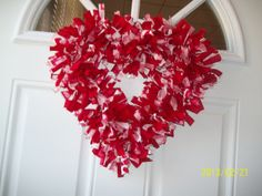 Red Hot Heart Wreath by WreathClothsbyDee on Etsy, $45.00