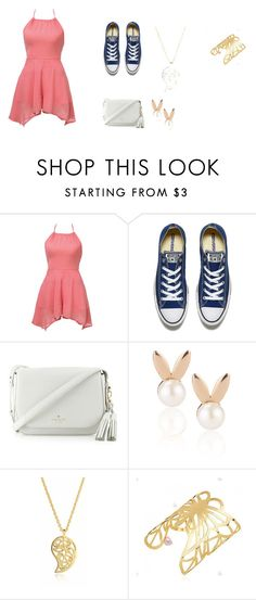 """Untitled #40"" by maddieghargett on Polyvore featuring Converse, Kate Spade, Aamaya by priyanka and Sonal Bhaskaran"