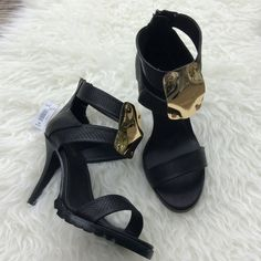 67ea07d79ab7 NWT Torrid Black  amp  Gold Heels New with tags Torrid black perforated heeled  sandals with