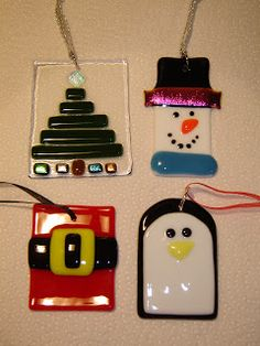 All Things Handcrafted - Tips, Classes and More!!: Fused Glass Christmas Ornaments!!!