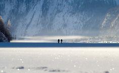 Da der Königsee sehr groß und vor allem tief ist, friert er im Schnitt nur einmal in zehn Jahren zu. Neben kalten Temperaturen ist vor allem eine lange, relative Windstille nötig, um die Wasserumwälzung möglichst gering zu halten, damit sich eine tragfähige Eisdecke bilden kann. Wenn der See zufriert und sich eine entsprechend dicke Eisschicht gebildet hat, wird der See für Fussgänger und Langläufer freigegeben. Es wird sogar ein Weg markiert, der die sicherste Verbindung nach Sankt…