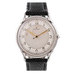 1940s 'Bull's Eye' Dial Stainless Steel Stylized by ROLEX