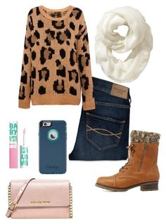 """"""""""" by tayy1199 ❤ liked on Polyvore featuring Maybelline, Abercrombie & Fitch, Pull&Bear, Charlotte Russe, Michael Kors and Old Navy"""