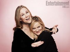"Showing the love, actresses Catherine O'Hara and Amy Poehler at Sundance for their film ""A.C.O.D."""