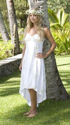 Exotic Beach Wedding Dresses   Hawaiian wedding dress for beach weddingsMakamae hawaiian naniloa dress   Beach weddings  Wedding dress and  . Hawaii Wedding Dress. Home Design Ideas