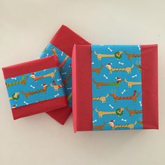 Dachshund wrapping paper #3