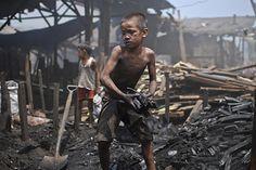 Filipino child laborer 5 million children aged 5-17 wor in the Philippines today.