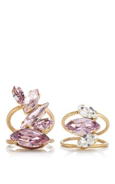 Pink and White Taiga Rings by Olya Shikhova for Preorder on Moda Operandi