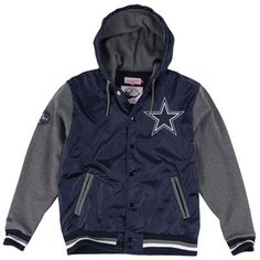 Mitchell & Ness Dallas Cowboys Navy Blue League Standings Jacket