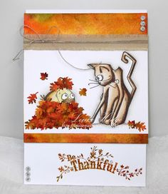 Passion Creations: Autumn card - Friends