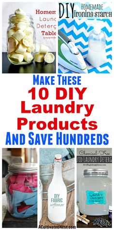 10 Frugal DIY Laundr